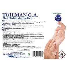 Antibakterielles hydroalkoholisches Sanitärgel 5000 ml (1 Stück)