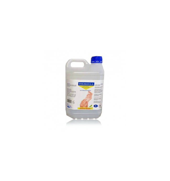 Antibakterielles hydroalkoholisches Sanitärgel 5000ml (4 Stück)