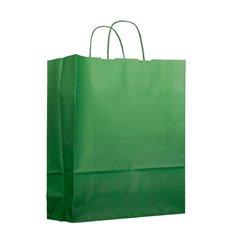 Papiertüten Grün mit Henkeln 22+9x23cm (25 Stück)