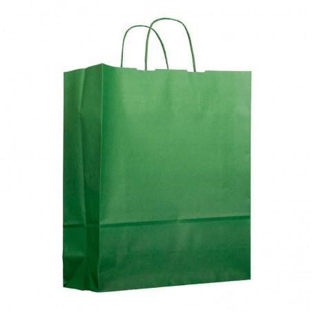 Papiertüten Grün mit Henkeln 25+11x31cm (200 Stück)