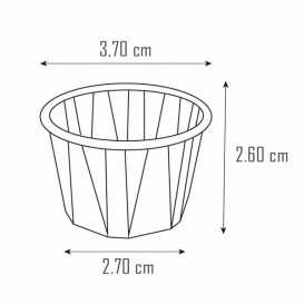 Eisbecher aus Plissiertem Papier 22ml (5.000 Stück)