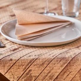 """Papiertischdecke 1,2x1,2m """"Kraft Holz"""" 37g (300 Stück)"""
