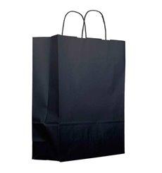 Papiertüten  schwarz mit Henkeln 100g 22+9x23cm (200 Stück)