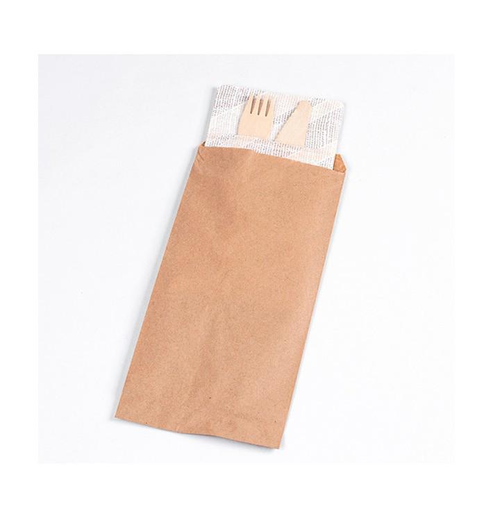 PapierBesteckumschlag Kraft 11x24cm (125 Stück)