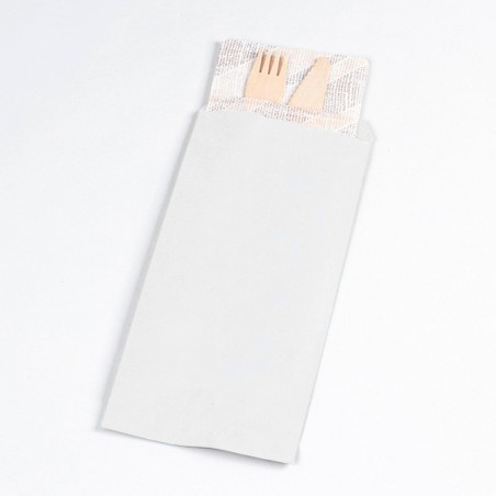 PapierBesteckumschlag Weiß 11x24cm (125 Stück)