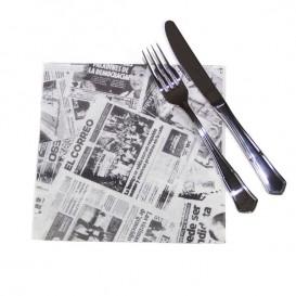"""Bestecktaschen """"Presse"""" 2-lagig 40x40cm (600 Stück)"""
