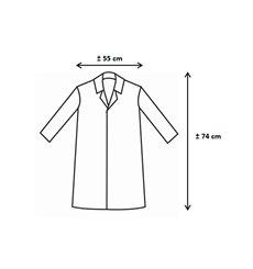 PP Schutzmäntel Kadett 35gr Klettverschluss Ohne Tasche Rot (100 Stück)