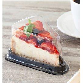 Verpackung für Stück Kuchen Transp-schwarzer (50 Stück)