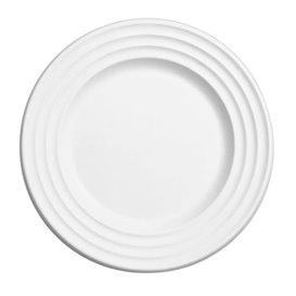 Zuckerrohrteller Premium Wave Weiß Ø23cm (50 Stück)