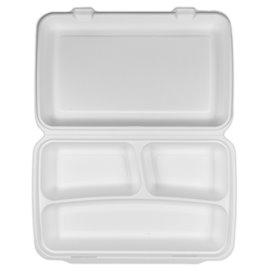 Menu-Box Zuckerrohr 3-Geteilt 38x48,3x6,15cm (50 Stück)