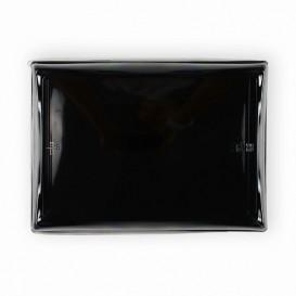 Plastikplatte schwarz mit Deckel PET 16x22cm (15 Stück)