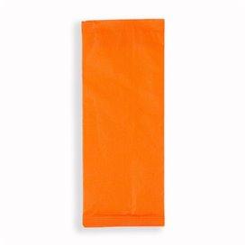 PapierBesteckumschlag mit Servietten Orange (125 Stück)