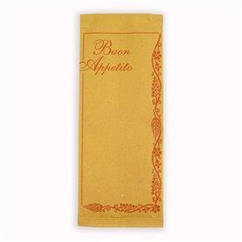 """PapierBesteckumschlag mit Servietten """"Buon Appetito"""" (125 Stück)"""