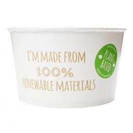 Kleine Salatschüssel aus weißem Pappe 635ml (45 Stück)