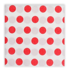"Papierservietten ""Polka-Punkte Rot"" 2-lagig 40x40cm (50 Stück)"