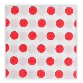 "Papierservietten ""Polka-Punkte Rot"" 2-lagig 40x40cm (600 Stück)"