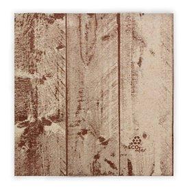 """Papierservietten """"Holz"""" Kraft 2-lagig 40x40cm (600 Stück)"""