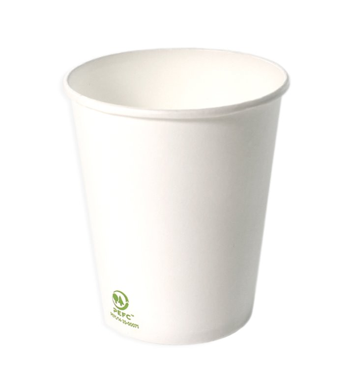 Bio Kaffeebecher To Go weiß 9 Oz/280ml Ø8,0cm (1.000 Stück)