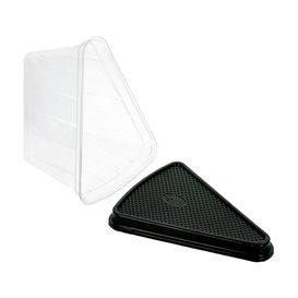 Verpackung für Stück Kuchen Transp-schwarzer (300 Stück)