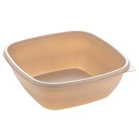 Plastikbehälter PP Creme 750ml 16,5x16,5x6cm (50 Stück)