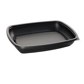 Plastikbehälter PP schwarz 600ml 23x16,5cm (300 Stück)