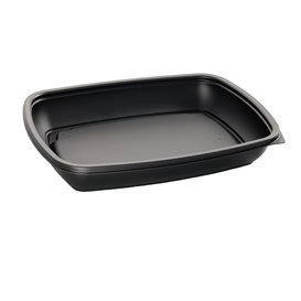 Plastikbehälter PP schwarz 600ml 23x16,5cm (750 Stück)
