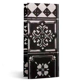 """Papierservietten 33x40cm 1/8 """"Alhambra"""" Schwarz (50 Stück)"""