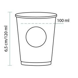 Bio Kaffeebecher to go PLA 4 Oz/120ml Ø6,2cm (80 Stück)