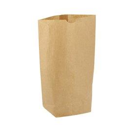 Papiertasche mit Sechseckiger Sockel Kraft 17x22cm (50 Stück)