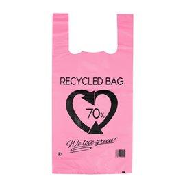 Hemdchenbeutel 70% Recycelter Pink 42x53cm 50µm (50 Stück)