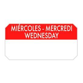 "Rechteckige Kleberolle ""Wednesday"" 5x2,5cm (1.000 Stück)"