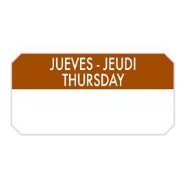 """Rechteckige Kleberolle """"Thursday"""" 5x2,5cm (1.000 Stück)"""