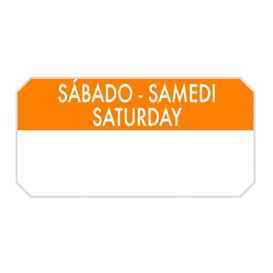 "Rechteckige Kleberolle ""Saturday"" 5x2,5cm (1.000 Stück)"