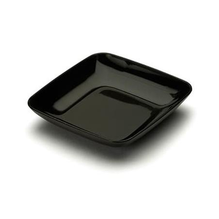 Servierteller Plastik schwarz 6x6x1cm (50 Stück)