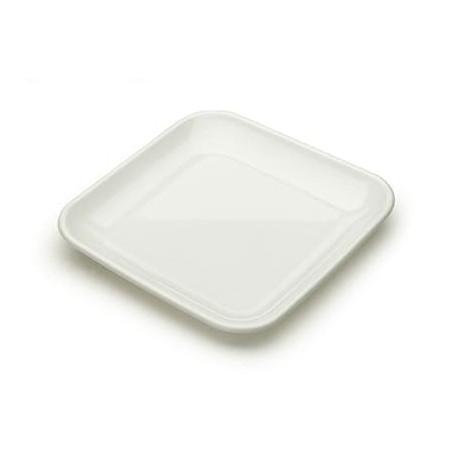 Servierteller Plastik weiß 6x6x1cm (200 Stück)