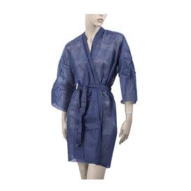 Einweg Kittel Kimono in TST PP mit Tasche Blau XL (100 Stück)