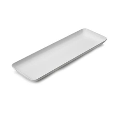 Serviertablett Plastik weiß 6x19cm (20 Stück)