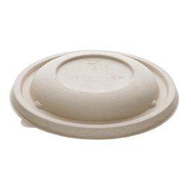Deckel aus Zuckerrohr für Schüssel Ø14x3cm (75 Stück)