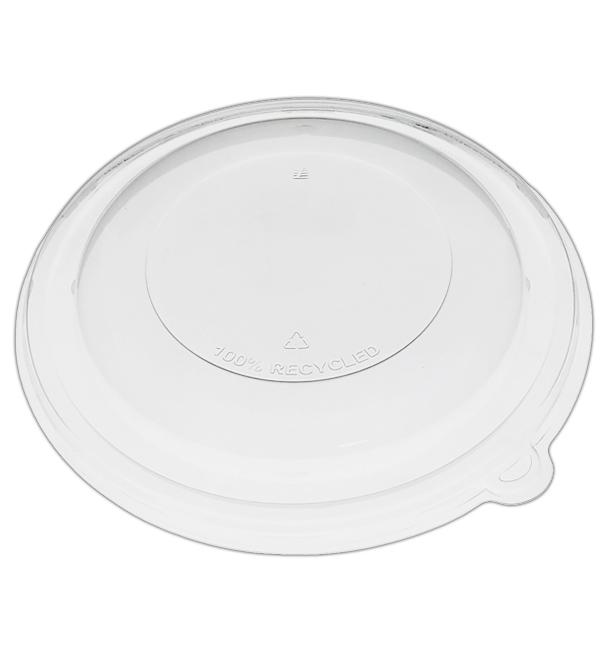 Domdeckel ohne Loch rPET Glasklar Ø21x3cm (25 Stück)