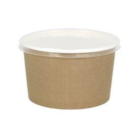 Suppenbecher To Go Kraft Mit Deckel PP 16 Oz/473ml (500 Stück)