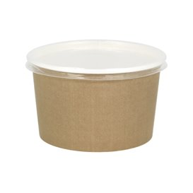 Suppenbecher To Go Kraft Mit Deckel PP 16 Oz/473ml (25 Stück)