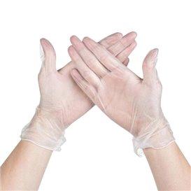 Vinyl Handschuhe Puderfrei Transp. Größe XL (100 Stück)