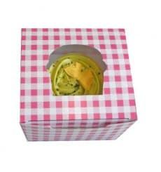 Cupcake Box für 1 Cupcake 11x10x7,5cm pink