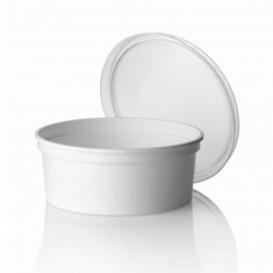 Weiße runde Dose 500ml (500 Einheiten)