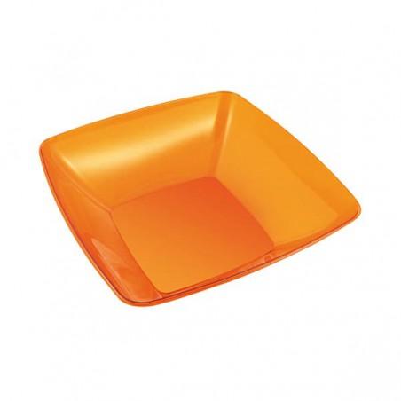 Plastikschüssel PS Glasklar Hart Orange 480ml (4 Stück)