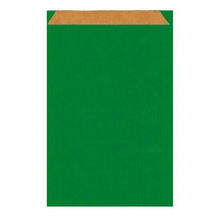 Papiertüten Kraft Grün 26+9x46cm (50 Einh.)