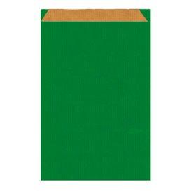 Papiertüten Kraft Grün 26+9x46cm (250 Einh.)