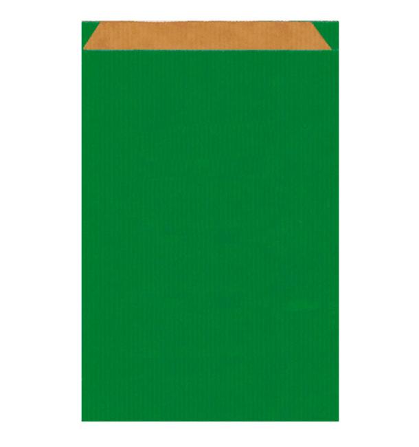 Papiertüten Kraft Grün 19+8x35cm (250 Einh.)