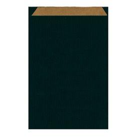 Papiertüten Kraft Schwarz 26+9x46cm (250 Einh.)