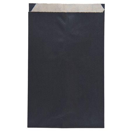 Papiertüten Kraft Schwarz 12+5x18cm (50 Einh.)